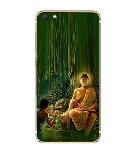 Fiobs Designer Back Case Cover for Vivo X7 Plus ( Buddha Buddhism)