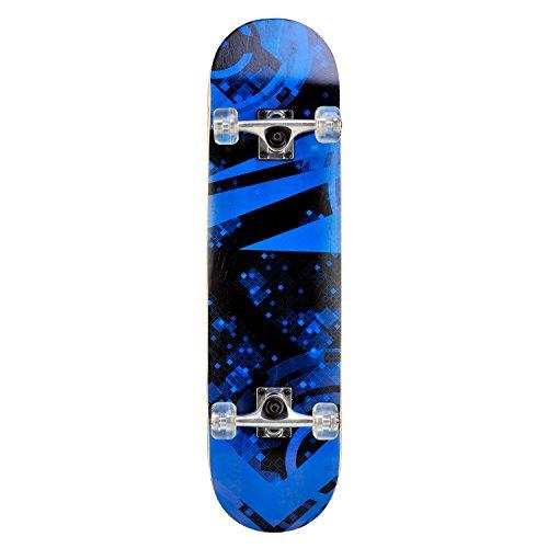 Skateboard Deck Funboard Holzboard komplett 80x20cm Ahornholz - blau