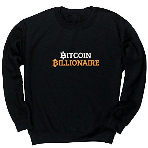 Hippowarehouse Bitcoin Billionaire Unisex Jumper Sweatshirt Pullover (Specific Size Guide in Description)