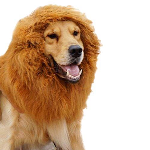 Kakiyi Pet Cosplay Kleidung Karikatur-Hut Löwe Mähne Wig Cap Lustige nettes weiches Haar Kapuze (Machen Sie Ein König Der Löwen Kostüm)