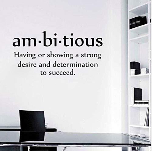 75 CM * 36,4 CM Ambitionierte Wand Wohnkultur Aufkleber PVC Quote Inspirational Aufkleber - Wand-aufkleber Quotes Inspirational