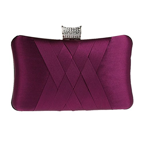 Aronvivi, Poschette giorno donna viola purple taglia unica purple