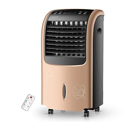 CYLQ Climatiseur Mobile avec Télécommande Portable 4 en 1 Refroidissement, Chauffage Humidificateur Purificateur Minuterie 15h, 3 Vitesses De Ventilateur Maison Bureau Or Blanc (Color : Gold)