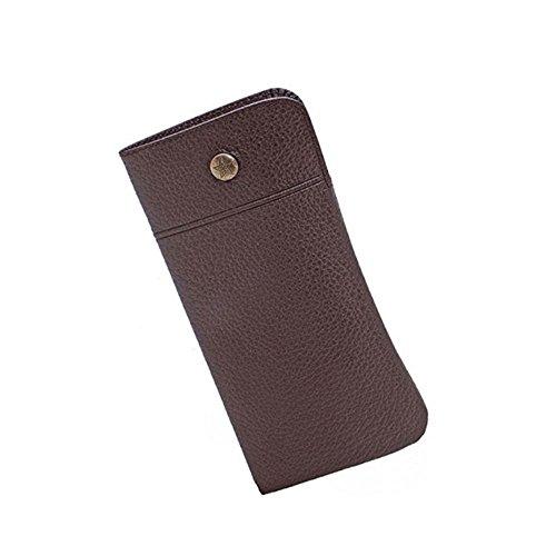 Stilvolles Design Schlüsselanhängerform Slip Case aus Leder, Braun, Made in Japan