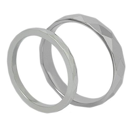 AnazoZ Schmuck Ring für Unisex Ringe Herren Edelstahl 2MM Breit Silber Siegelring Bandring Biker Ring für Frauen Und Männer mit Kostenlos Gravur Größe:49 (15.6)
