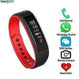 WCPZJS Zeit Besitzer Bluetooth Smartband W810 Fernbedienung Herzfrequenz Schlaf Monitor Anruf/MSN/Social App Erinnern Armband Smart Armband