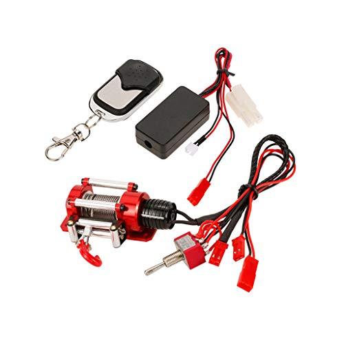 Jamicy  Kabelgebundenes automatisches Windensteuerungssystem und drahtloser Fernbedienungsempfänger für 1/10 Auto, RC Autoteil