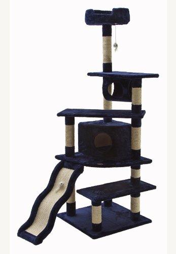 Go Pet Club Katze Baum, 178cm, Blau (Scratcher Condo Pet-möbel)
