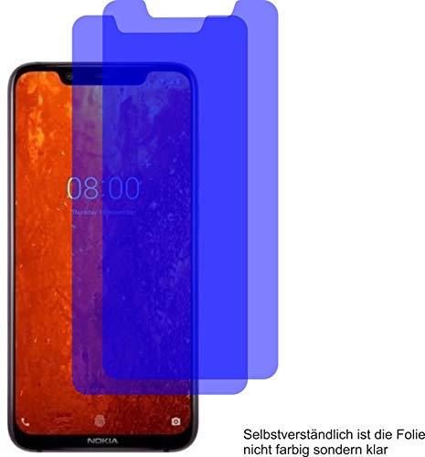 2X ANTIREFLEX matt Schutzfolie für Nokia 8.1 Displayschutzfolie Bildschirmschutzfolie Schutzhülle Displayschutz Displayfolie Folie
