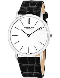 Stührling Original 601.33152.A - Reloj analógico para hombre, correa de cuero, color negro