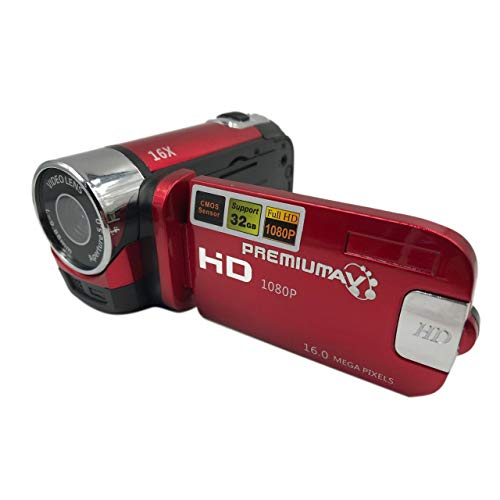 Prima05Sally Mini tragbare 2,7-Zoll-Digitalvideokamera-Camcorder TFT-LCD-Bildschirm Full HD 16-Fach-Zoom-DV-Kamera COMS-Videoaufzeichnung Zoom 2.7 In Lcd-usb