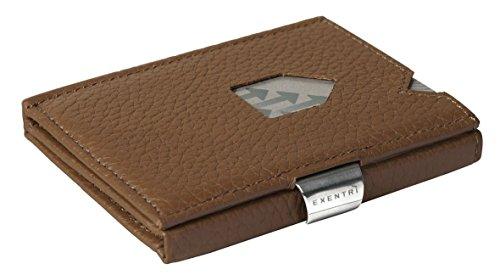 Smart Protector (Exzentri - Card Protector Wallet - EX 032 - Portemonnaie für 12 Karten - Braun Struktur)
