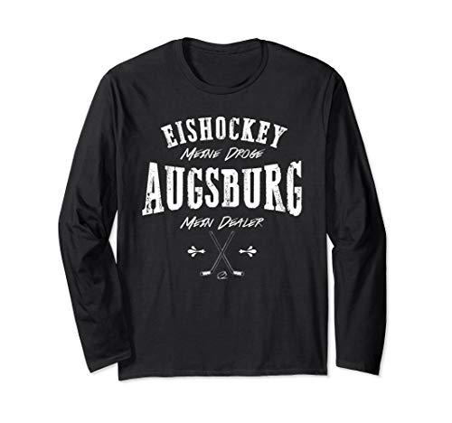Augsburg mein Dealer Eishockey meine Droge Fan Langarmshirt