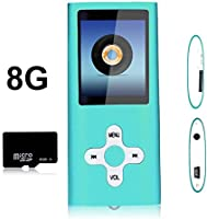 "Btopllc 8 Go Micro SD Card Mp3 mp4 lecteur mp3 lecteur mp4 1.7 ""Cable šŠcran Music Video Media Player Enregistrement vocal Portable Media Player, vue de l'image, jeux, šŠcouteurs et USB"