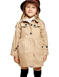 Free Fisher Kinder Mädchen klassischer Trenchcoat Übergangsjacke ohne Kapuze