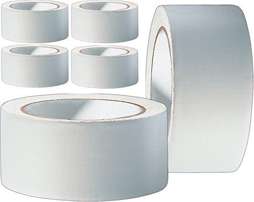 12 Rollen Profi PVC Putzband 33m gerillt 50mm weiß Bautenschutzband Schutzband Klebeband