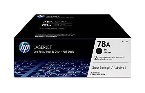 HP 78 - Cartucho de tóner Original HP 78A Negro para HP LaserJet Pro P1566 , HP LaserJet Pro P1606dn y HP LaserJet Pro M1536dnf