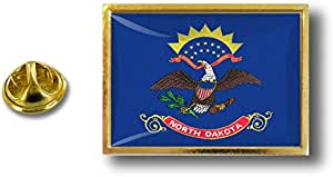Akacha Spilla Pin pin's Spille spilletta Bandiera Badge USA Americana Dakota del Nord