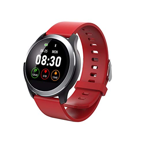 LRWEY Fitness Smart Watch, Sport Fitness Herzfrequenz Tracker Blutdruck Kalorien IP67 Wasserdichte Smart Watch, für iOS Android