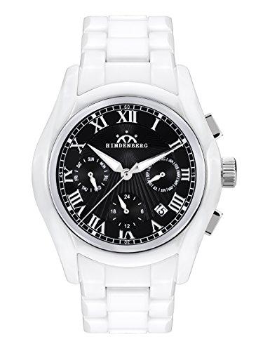 Hindenberg Herren Analog Automatik Uhr mit Keramik Armband 790163