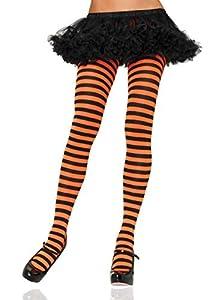 Leg Avenue- Mujer, Color negro y naranja, Talla Única (EUR 36-40) (710022040)