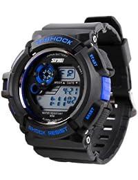 ufengke® calidad fina elegante multifunción reloj deportivo a prueba de golpes para los hombres, blindado a prueba de agua de montaña de cuarzo reloj de pulsera, azul
