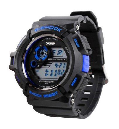 ufengke® qualité fine multifonction élégante montre de sport résistant aux chocs pour les hommes, blindé imperméable à l'eau montre un bracelet montagne de quartz, bleu