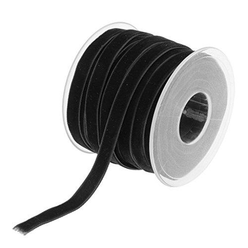 Gazechimp 20 Yard 10mm Breite Samtbandrolle Samt Dekoband Schleifenband Geschenkband Schmuckband Für Handwerk - Schwarz, one size (Band Velvet)