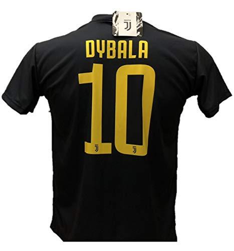 Terza maglia dybala 10 juventus nera away calcio replica autorizzata 2018-2019 bambino (taglie 2 4 6 8 10 12) adulto (s m l xl) (m)