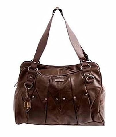 Lorenz, sac à main pour femme (M) - marron - marron foncé,