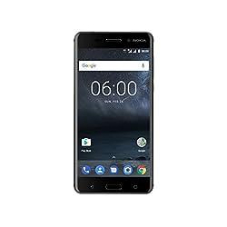 Nokia 6 Smartphone (13,9 cm (5,5 Zoll), 32GB, 16 Megapixel Kamera, Android 7.1.1 Nougat, Dual Sim) matt-schwarz, version 2017