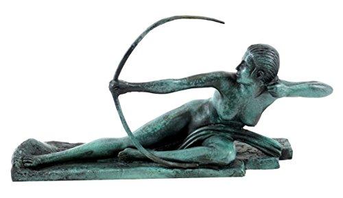 Kunst & Ambiente - Art Déco Bronzefigur - Penthesilea Amazone - Marcel-André Bouraine - signiert - Art Deco Skulptur - Figur