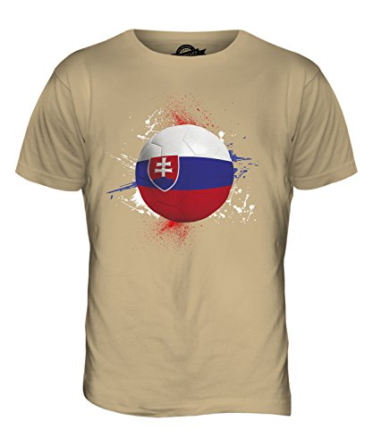 CandyMix Slowakei Fußball Herren T Shirt Sand