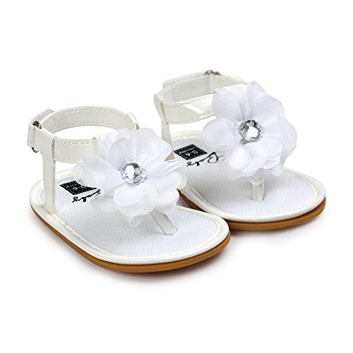 Etrack-Online  Baby Sandals, Baby Mädchen Lauflernschuhe Weiß
