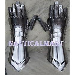 Guanteletes de acero medieval knight armor guantes por Nauticalmart