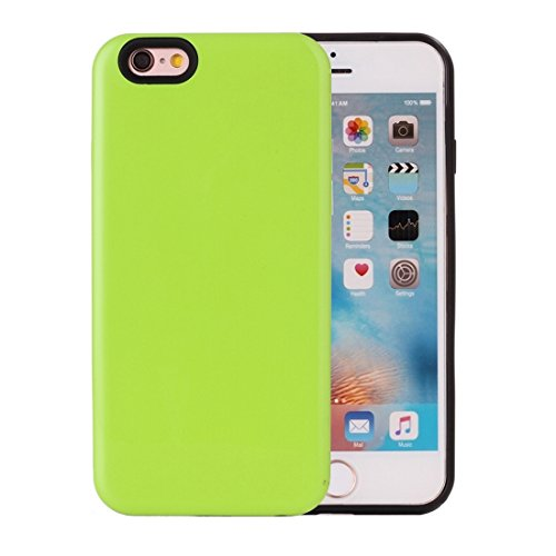 Phone case & Hülle Für iPhone 6 Plus / 6s Plus, TPU + PU Kombi-Schutzhülle ( Color : Gold ) Green