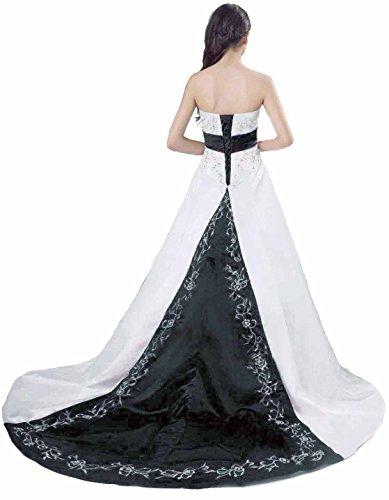 Faironly D212 trägerlos Hochzeit Kleid Colorblock