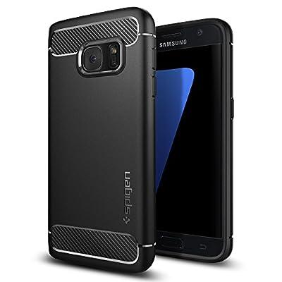 Spigen (555CS20007) Coque Galaxy S7, [Rugged Armor] Retablissement [Black] Ultimate protection contre les chutes et les impacts, Coque pour Samsung Galaxy S7 (2016) - de Spigen - Coques et housses