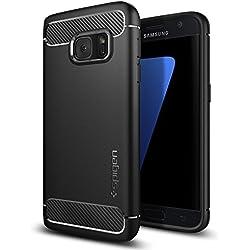 Spigen (555CS20007) Coque Galaxy S7, [Rugged Armor] Retablissement [Black] Ultimate protection contre les chutes et les impacts, Coque pour Samsung Galaxy S7 (2016) -