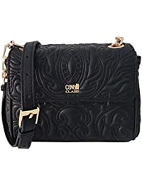 Cavalli Class Small Shoulder Bag Blossom CRC001 Black 7852fbc2025