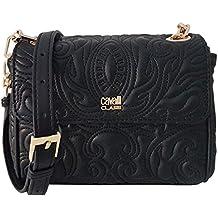 Cavalli Class Small Shoulder Bag Blossom CRC001 Black 9d24aba5c01