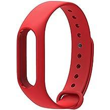 COOSA Correa de Recambio Brazalete Extensibles coloridos impermeables para reemplazo Pulsera XIAOMI Wireless Recambio para Pulsera Inteligente XIAOMI MI band 2 (sin Rastreador de actividad) (rojo, para xiaomi pulsera inteligente 2)