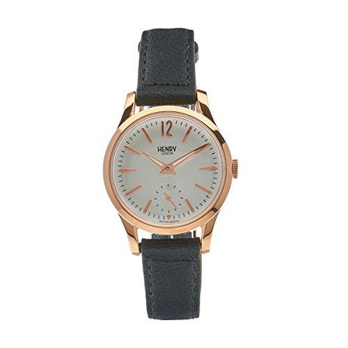 Henry de Londres Unisex Reloj de Pulsera Richmond analógico de Cuarzo Piel HL3075CW de US de 0024 (Reacondicionado Certificado)
