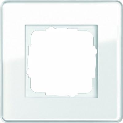 Gira 0211512 Abdeckrahmen 1 fach Esprit Glas C, weiß von Gira - Lampenhans.de