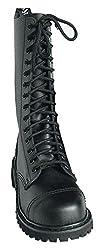 Knightsbridge 14-Loch Springerstiefel UK Gothic Style Boots schwarz Gr. 37 - 47 43,Schwarz