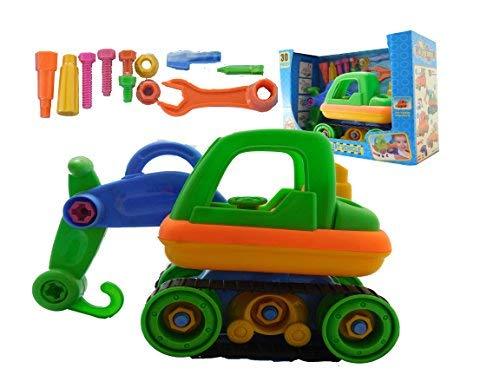 Allkindathings - Juego de camión Infantil de construcción de Juguetes para camión con Herramientas para niños