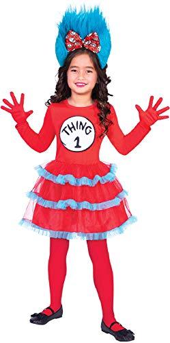 Fancy Me Mädchen Thing 1 oder 2 Tutu Kleid Dr Seuss Cat In The Hat World Book Day Week Karneval TV Film Movie Cartoon Kostüm Outfit