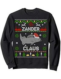 Zander Claus - Weihnachtspulli für Angler lustiges Weihnacht Sweatshirt