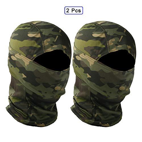 QWET Tactical Face Scarf Mask,Kopfbedeckung,Bandana,Nackenschutz,Head Wrap,Stirnband,atmungsaktives Gummiband,Feuchtigkeitstransport (2 Stück),C