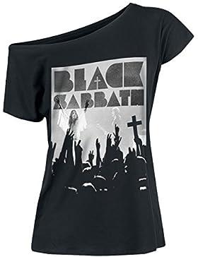 Black Sabbath Victory Camiseta Mujer Negro